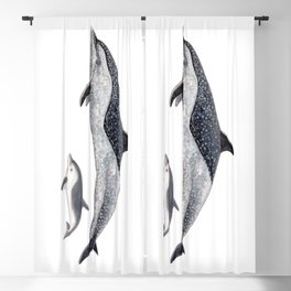 Pantropical spotted dolphin Blackout Curtain