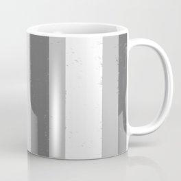 Asymmetrical Multi Value Grey Flecked Jagged Stripes Coffee Mug