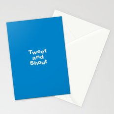 Tweet & Shout! Stationery Cards