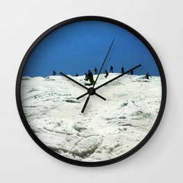 Spring Skiing on Superstar Wall Clock