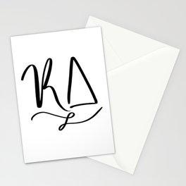 Cursive KD Stationery Cards
