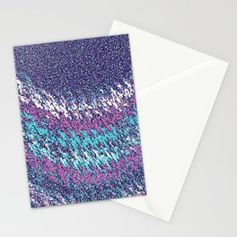 Abstract Waves Stationery Cards