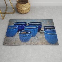 Blue Clay Pots Rug
