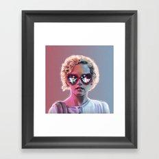 Electrick Girl Framed Art Print