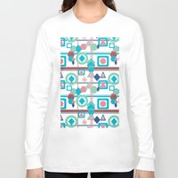 pantone Long Sleeve T-shirts featuring Geometric Spring Pantone Palette by naturessol