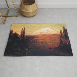 Mount Shasta 1882 By Thomas Hill | Reproduction Rug