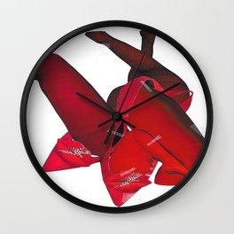 Seduction Red Wall Clock