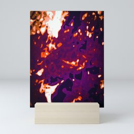 Orange - White - Glowing Purple Abstract Vector Texture Mini Art Print