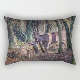 Doe and Fawn Rectangular Pillow