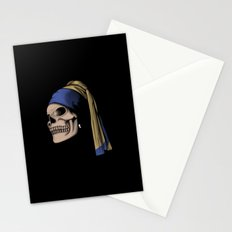 The Skull with a Pearl Earring Stationery Cards