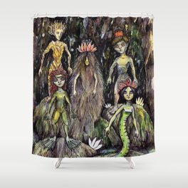 Swamp dwellers Shower Curtain