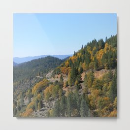 Through the mountains in the Fall.... Metal Print
