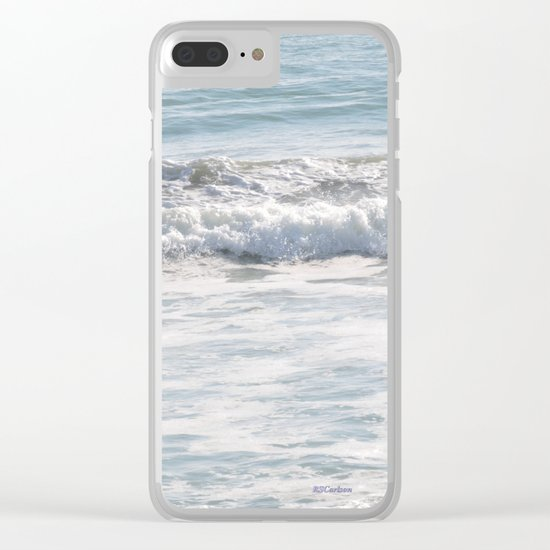 TEXTURES -- Surf   at San Clemente Clear iPhone Case