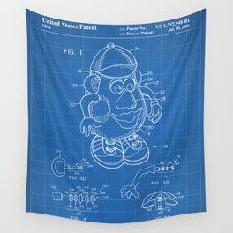 Mr Potato Head Patent - Potato Head Art - Blueprint Wall Tapestry