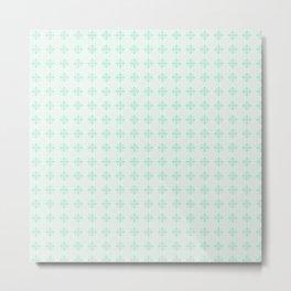 Green Geometric Emblem Metal Print