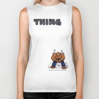the thing Biker Tanks featuring Thing by ToppArt