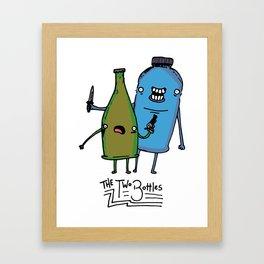 the two bottles Framed Art Print