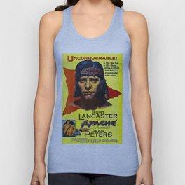 Vintage Movie Posters, Apache, Burt Lancaster Unisex Tank Top