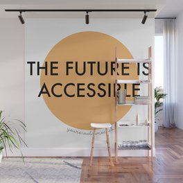 The Future is Accessible - Orange Wall Mural