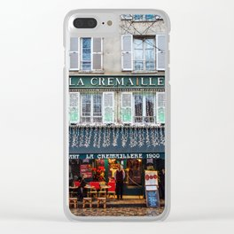 Streets of Paris Clear iPhone Case