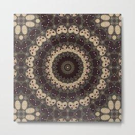Mandala Arabica . Metal Print