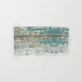 Rustic Wood Turquoise Weathered Paint Wood Grain Hand & Bath Towel