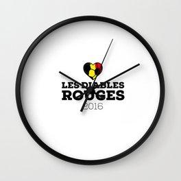 EM 2016 Les Diables Rouges Belgium Wall Clock