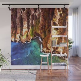 Tropical Coastline Hawaii of the Isolated Napali Coast Wall Mural
