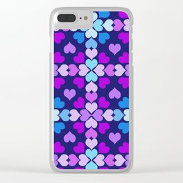 Ultra-Violet Heart Quilt Clear iPhone Case