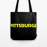 pittsburgh Tote Bags featuring Pittsburgh by AE Interiors