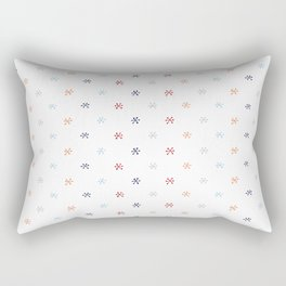 Blue & Orange Asterisks Rectangular Pillow