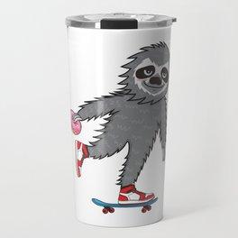 Skater Sloth Travel Mug