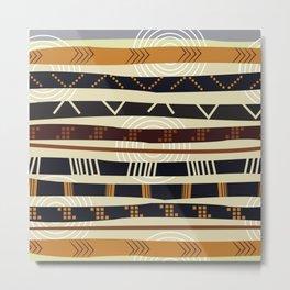 African Tribal Pattern No. 35 Metal Print