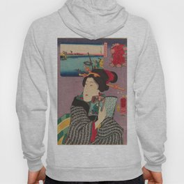 Utagawa Kuniyoshi - Landscapes and Beauties: Feeling Like Reading the Next Volume (1850s) Hoody