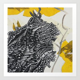 Posh Paisley Art Print