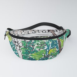 Kew Gardens Jungle Botanical Painting Greenhouse Fanny Pack