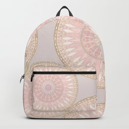 Pink And Gold Elegant Mandala Pattern Backpack