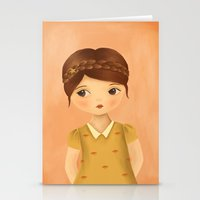 cancer Stationery Cards featuring Cancer by The Midnight Rabbit