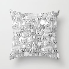 crazy cross stitch critters Throw Pillow