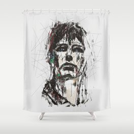 Staggered Shower Curtain