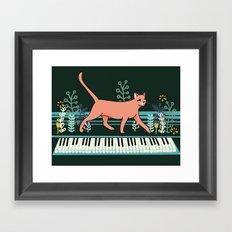 Kitten on the Keys Framed Art Print