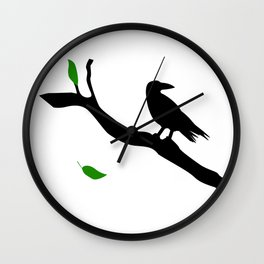 Old Crow Wall Clock