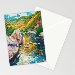 Bridge in the mountains Stationery Cards