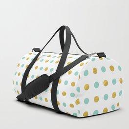 Dalmatian - Sea Foam & Gold Foil #622 Duffle Bag