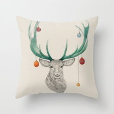Christmas Deer Throw Pillow