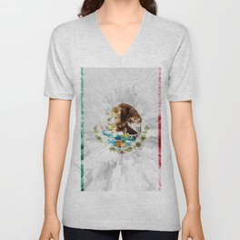 Extruded Flag of Mexico Unisex V-Neck