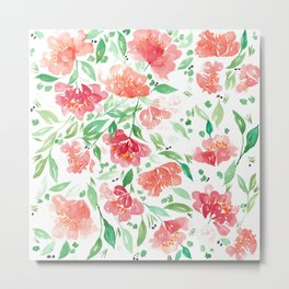 Roses collection Red // Pink // Green Palette Metal Print