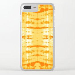 Satin Shibori Yellow Clear iPhone Case