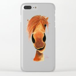 Happy Horse ' GINGER NUT ' by Shirley MacArthur Clear iPhone Case