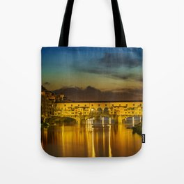 FLORENCE Ponte Vecchio at Sunset Tote Bag